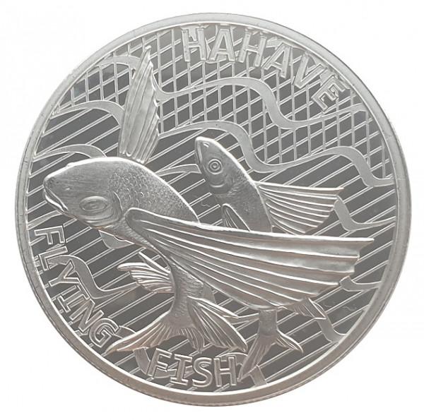 1 Oz Silber Flying Fish - Hahave Fliegender Fisch 2020 Tokelau