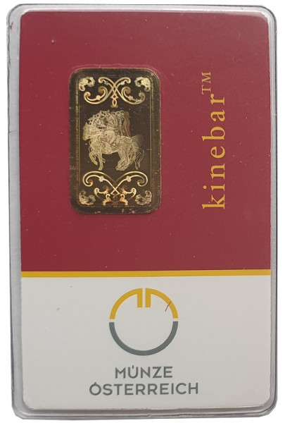 5 gr Goldbarren Kinebar Münze Österreich 999,9/1000 Feingold im kleinen Blister