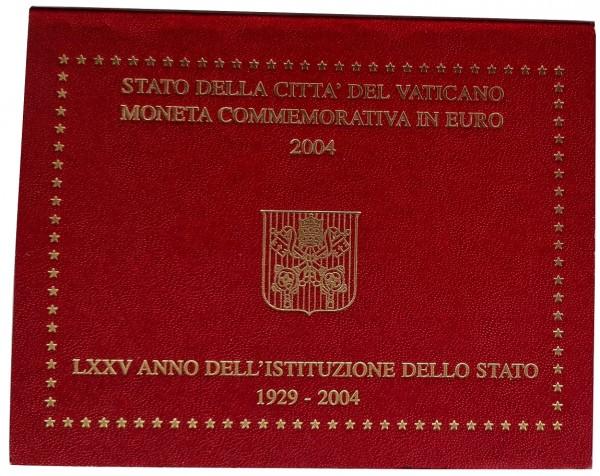 Vatikan 2 Euro Gedenkmünze 75 Jahre Gründung Vatikanstadt - Petersdom 2004 im Blister
