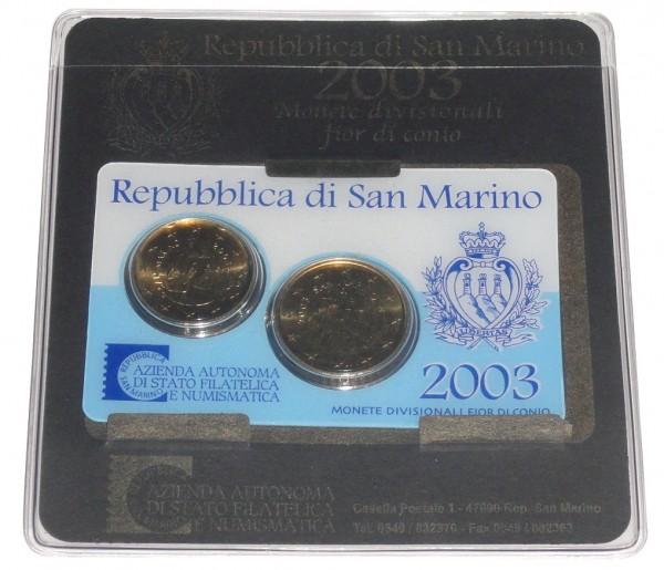 San Marino 20 u. 50 Cent Mini Kit 2003 im Blister