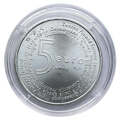 Niederlande 5 Euro Silber EU - Erweiterung 2004 Stempelglanz in Münzkapsel