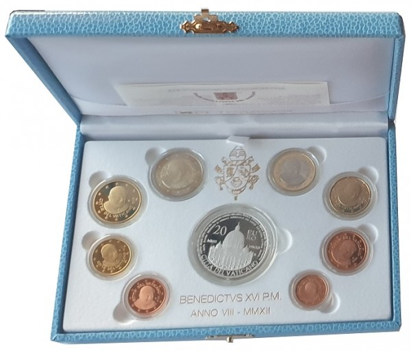 Vatikan 23,88 Euro 2012 PP. KMS Papst Benedikt mit 20 Euro Silbermünze