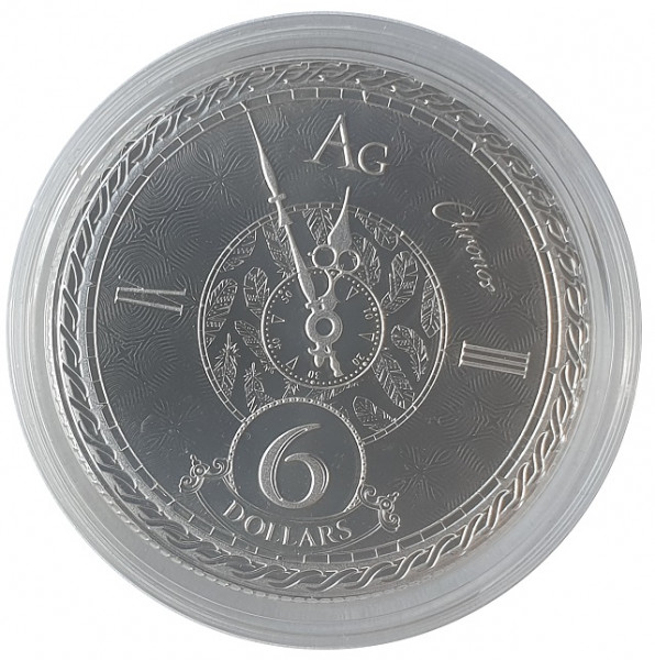 Tokelau 1 Oz Silber Chronos 2020 Münzkapsel Stempelglanz