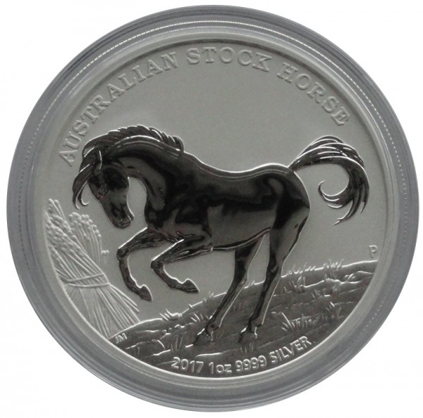 Australien 1 Oz Silber Stock Horse Pferd 2017 mit Zertifikat