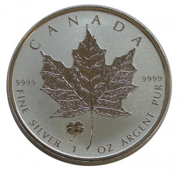 Canada 1 Oz Silber Maple Leaf 2016 - Privy Mark Kleeblatt Frosted Proof