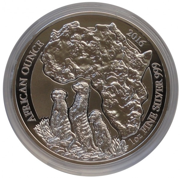 Ruanda 1 Oz Silber Erdmännchen 2012 PP mit Zertifikat