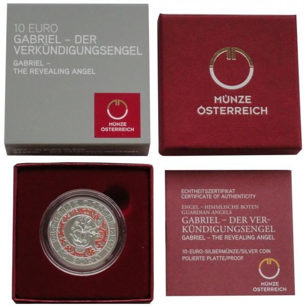 Österreich 10 Euro Silber Gabriel - Der Verkündungsengel 2018 Polierte Platte