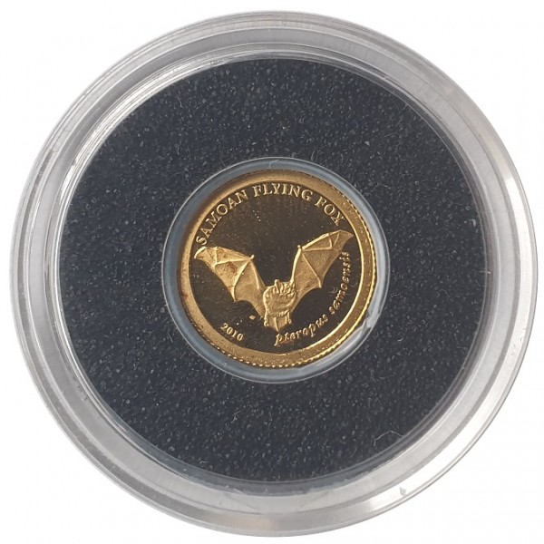 Samoa 0,5 gr Gold Fledermaus Goldmünze 2010 Polierte Platte