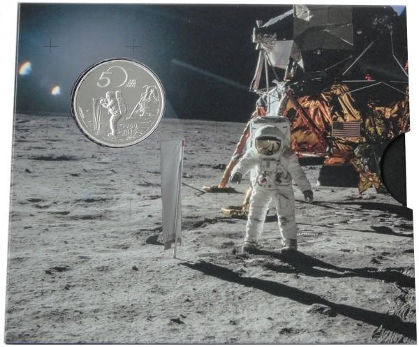 Schweiz 20 Franken Silber 50 Jahre Mondlandung 2019 Apollo 11 Stempelglanz Folder