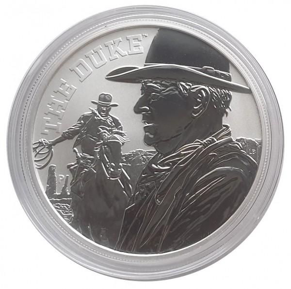 1 Oz Silber John Wayne *THE DUKE* 2020 Stempelglanz - Bullionmünze Tuvalu