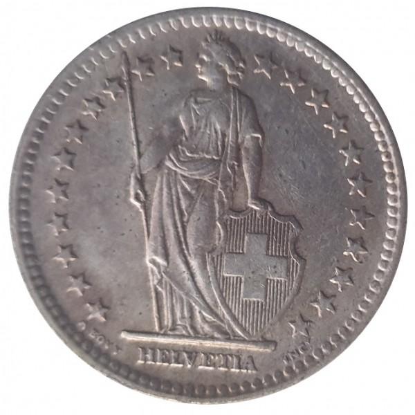 Schweiz 2 Franken Silbermünze 10 gr 835/1000 Silber