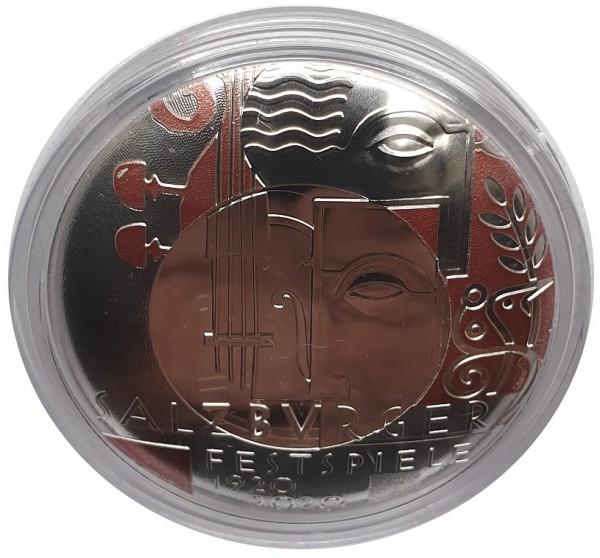 Österreich 20 Euro Silbermünze 100 Jahre Salzburger Festspiele 2020 Polierte Platte