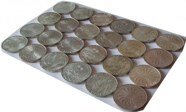 BRD: 24 x 10 DM Silber Gedenkmünzen Olympiade 1972 Kompletter Satz alle Prägestätten DFGJ