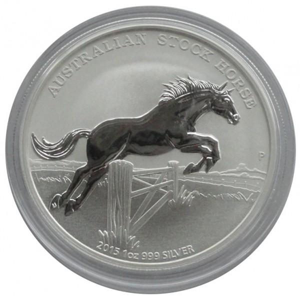 Australien 1 Oz Silber Stock Horse Pferd 2015 mit Zertifikat