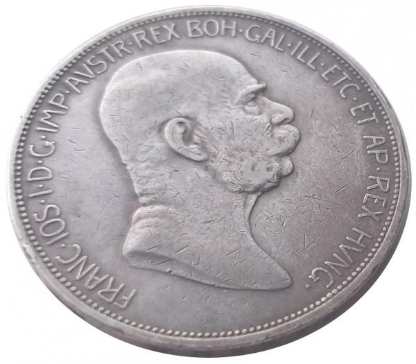 Österreich Ungarn 5 Kronen Silber 1909 Kaiser Franz Joseph I. Habsburger Dynastie