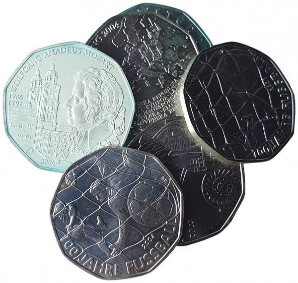 5 Euro Silber Gedenkmünzen Österreich ( 2002 - 2020 ) 10 gr 800/1000 Silber Bankfrisch