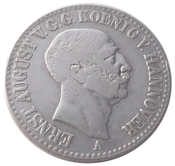 Königreich Hannover 1 Thaler Silber Ernst August I. 1847 A