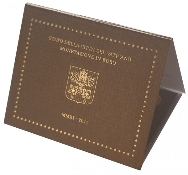 Vatikan 3,88 Euro 2011 Stgl. KMS Papst Benedikt XVI. im Folder