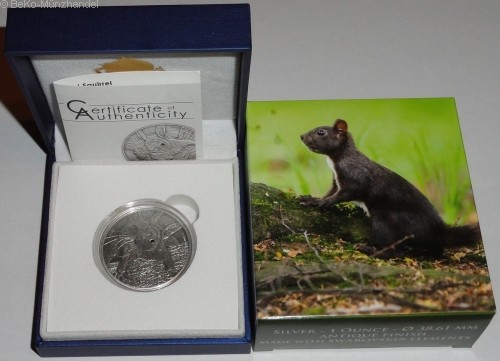 Palau 5 Dollar 1 Oz Silber Red Squirrel (Eichhörnchen) 2012 Antik Finish