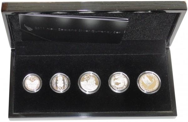 Neuseeland 3,80 Dollar Silber Currency Set 2011 Polierte Platte im Etui