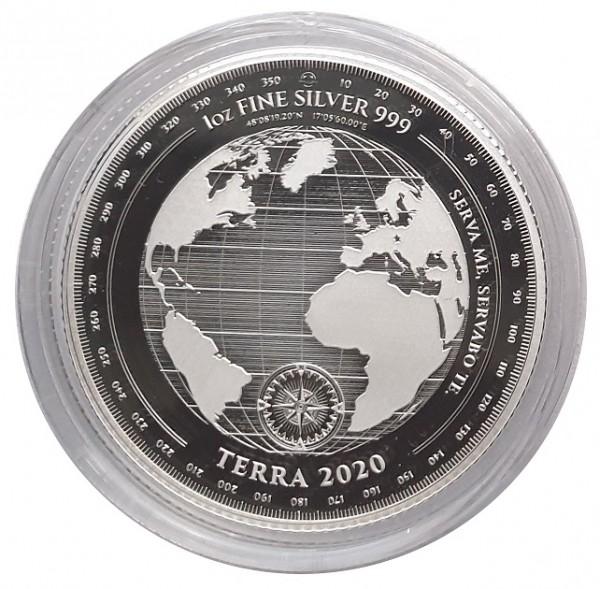Tokelau 1 Oz Silber Terra - Erde 2020 Prooflike in Münzkapsel