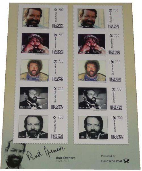 Bud Spencer Briefmarken 10 x 7 Euro Briefmarkenbogen Limited Edition nur 10.000 Stück !