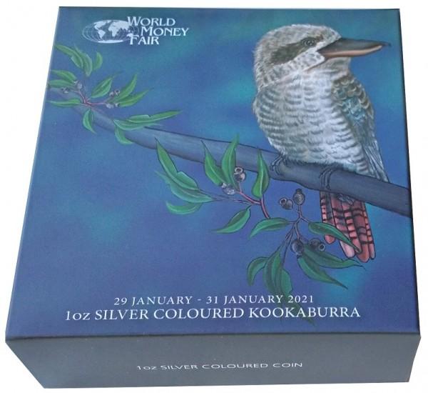 1 Oz Silber Kookaburra - World Money Fair Berlin 2021 aus Australien