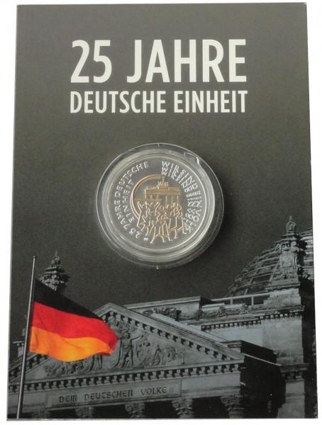 25 Euro Silber vergoldet Wir sind ein Volk - 25 Jahre Deutsche Einheit Deutschland 2015 Blister