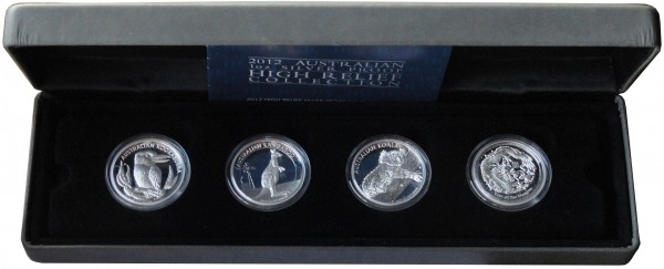 Australien 4 x 1 Oz Silber High Relief Proof Set 2012
