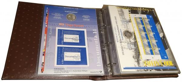 Sammelalbum mit 10 Euro u. 10 DM Silbermünzen Numisbriefe Deutsche Post