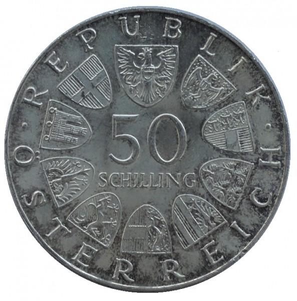 Österreich 50 Schilling Silbermünze Stempelglanz 1959 bis 1973