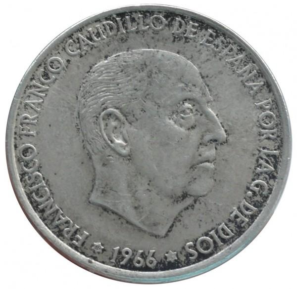 Spanien 100 Pesetas Silbermünze FRANCISCO FRANCO 800/1000 Silber Anlagemünze