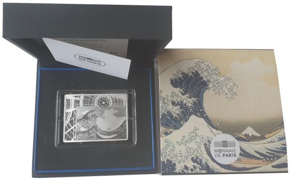 10 Euro Silber Hokusai - The Wave - Die Welle Frankreich 2020 Proof Finish im Etui