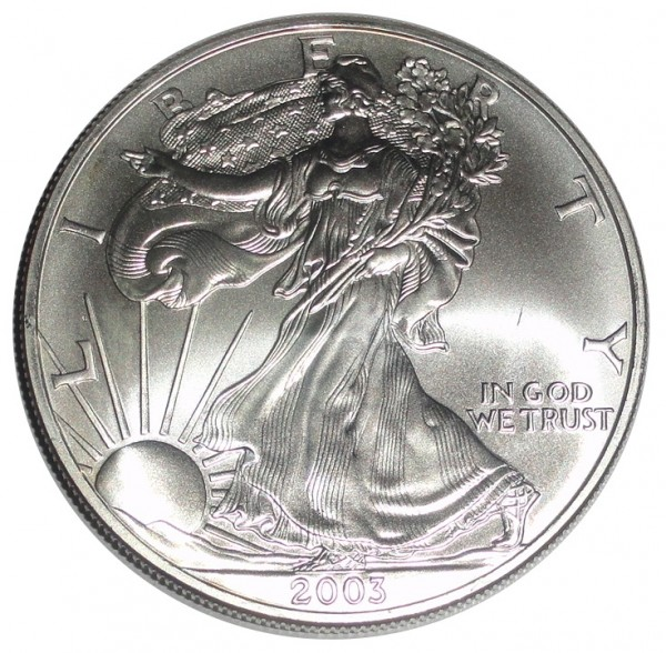 USA 1 Dollar 1 Oz Silber American Eagle 2003