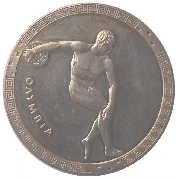 Silbermedaille Diskuswerfer 1972 - OLYMPIASTADT MÜNCHEN GRÜSST DIE WELT
