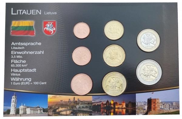 Litauen 3,88 Euro Kursmünzensatz 2015 Bankfrisch im Folder