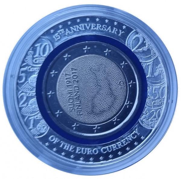 Finnland 2 Euro 100 jahre Unabhängigkeit 2017 mit blauem Polymer - Ring