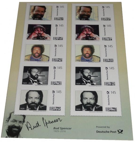 Bud Spencer Briefmarken 10 x 1,45 Euro Briefmarkenbogen Limited Edition nur 10.000 Stück !