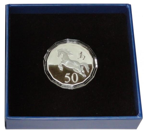 Australien 1/2 Oz Silber Lunar Pferd 2014 Frosted Unzirkuliert