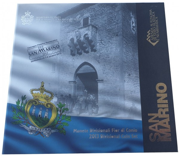 Original 3,88 Euro Kursmünzensatz San Marino 2013 im Blister