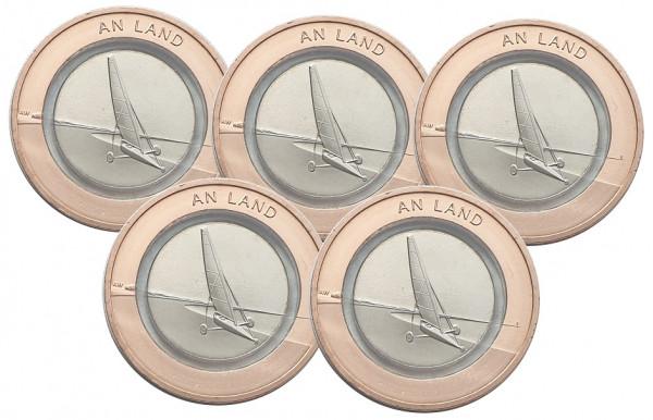 5 x 10 Euro an Land 2020 ADFGJ Komplettsatz Stempelglanz mit farblosem Polymerring