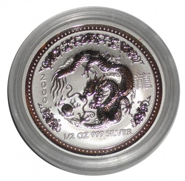 Australein 1/2 Oz Silber Lunar Serie I Drache 2000