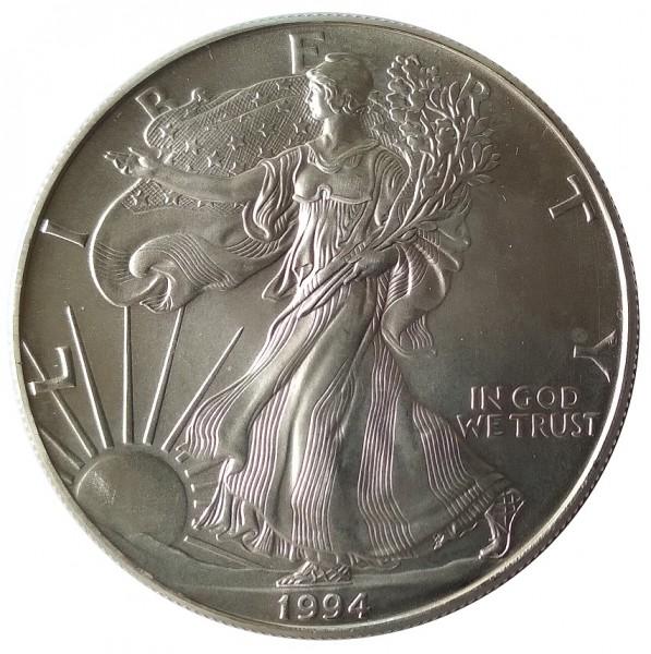 USA 1 Dollar 1 Oz Silber American Eagle 1994
