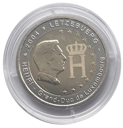 2 Euro Luxemburg 2004 Henri Bankfrisch in Münzkapsel