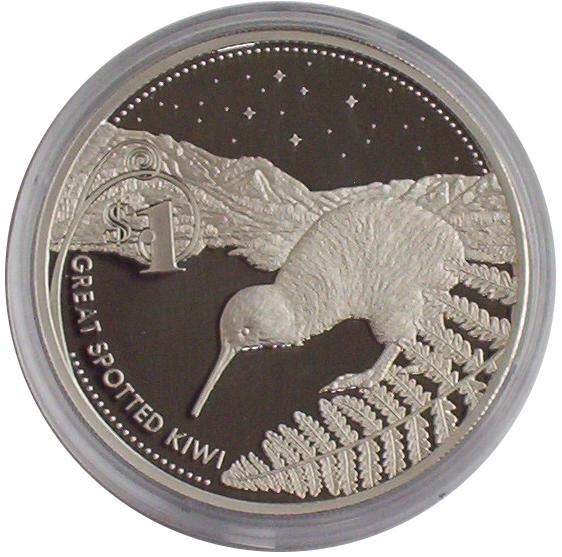 Neuseeland 1 Oz Silber Kiwi 2007 PP im Etui