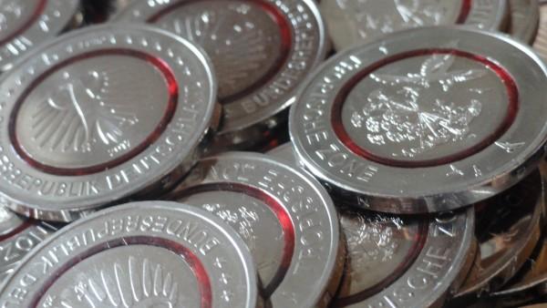 SONDERANGEBOT ! BRD: 10 x 5 Euro Bimetall Tropische Zone mit Polymer - Ring 2017
