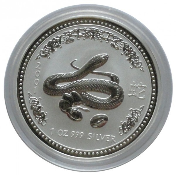 Australien 1 Oz Silber Lunar I Serie Schlange 2001
