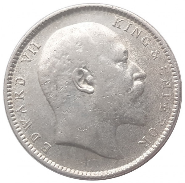 Britisch Indien 1 Rupie Silber 1906 König Edward VII