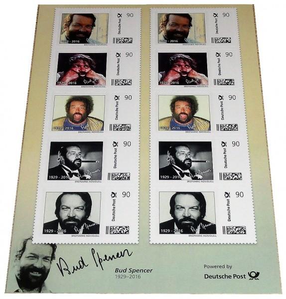 Bud Spencer Briefmarken 10 x 90 Cent Briefmarkenbogen Limited Edition nur 10.000 Stück !