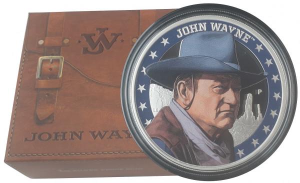 1 Oz Silber John Wayne Farbe - Color 2020 Polierte Platte Tuvalu